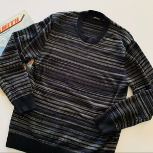 Claiborne | Men's Gray Striped Sweatshirt